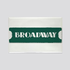 Broadway Street Sign Rectangle Magnet