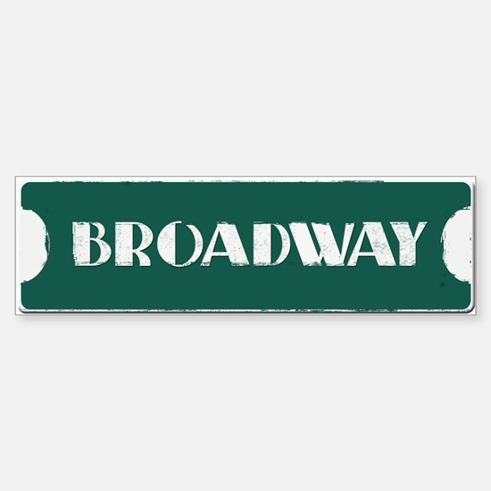 Broadway Street Sign Sticker (Bumper)