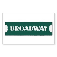 Broadway Street Sign Sticker (Rectangle)