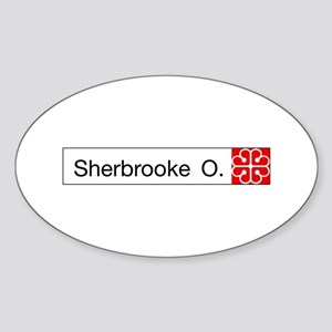 Rue Sherbrooke, Montreal (CA) Oval Sticker