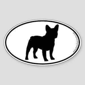 French Bulldog SILHOUETTE Oval Sticker
