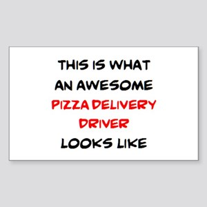 awesome pizza delivery driver Sticker (Rectangle)