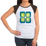 70s Squared Love | Women's Cap Sleeve T-Shirt