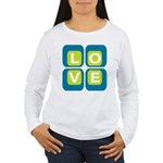 70s Squared Love | Women's Long Sleeve T-Shirt