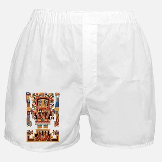 Viracocha Creator God of Tiwanaku Boxer Shorts