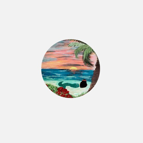 Aloha Mermaid Mini Button