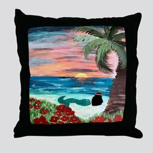 Aloha Mermaid Throw Pillow