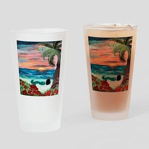 Aloha Mermaid Drinking Glass