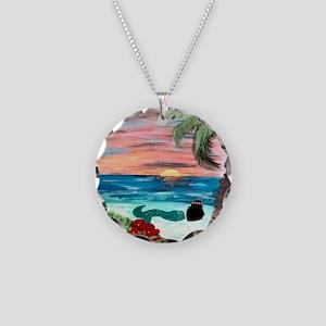 Aloha Mermaid Necklace Circle Charm