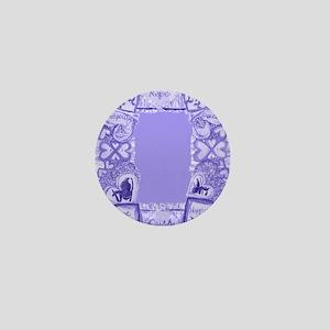 Blue Lace Hearts Faith Hope Love 8 x 1 Mini Button