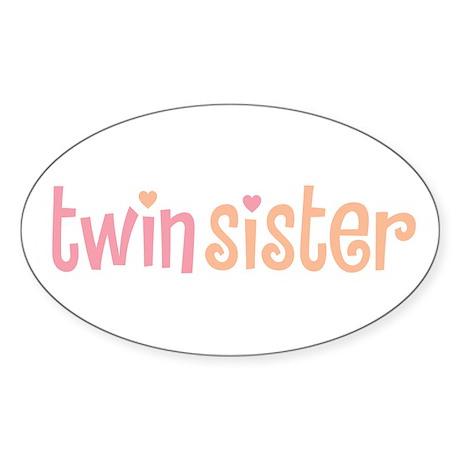 Twin Sister Oval Sticker 2