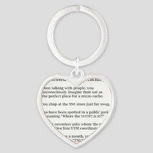 Obsessed Tshirt Heart Keychain