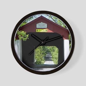 Van Sandt Covered Bridge Calendar Wall Clock
