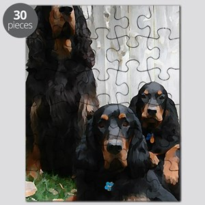 Gordon Setter Generations Painting Puzzle