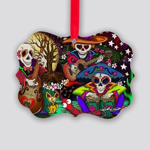 Day of the Dead Music art by Juli Picture Ornament