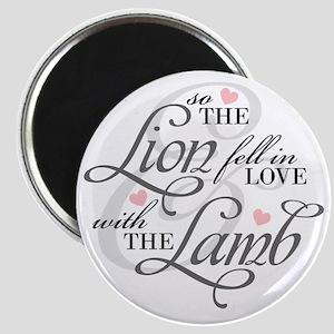 Lion  Lamb Magnet