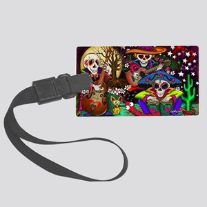 Day of the Dead Music art by Jul Large Luggage Tag