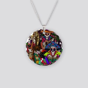 Day of the Dead Music art by Necklace Circle Charm
