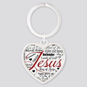 The Name of Jesus Heart Keychain