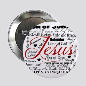 """The Name of Jesus 2.25"""" Button"""