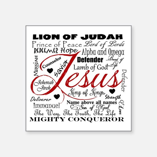 "The Name of Jesus Square Sticker 3"" x 3"""