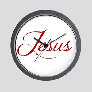 The Name of Jesus dark Wall Clock