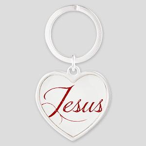 The Name of Jesus dark Heart Keychain