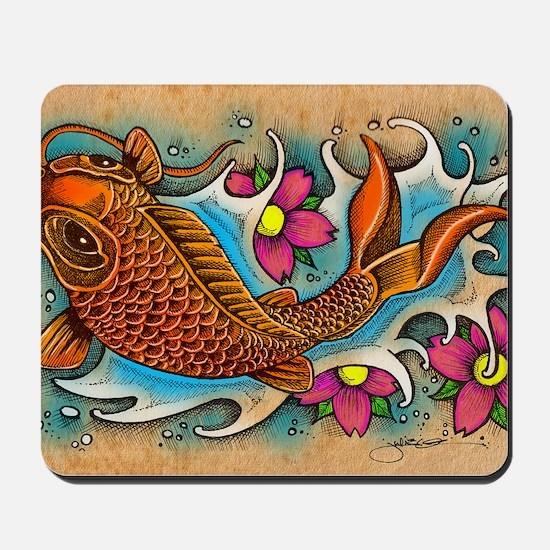 Koi Fish Art by Julie Oakes Mousepad