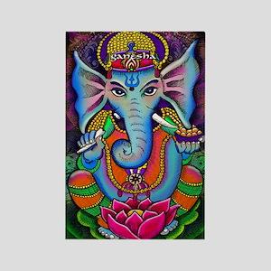 Ganesha Art by Julie Oakes Rectangle Magnet