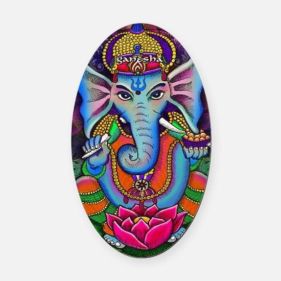 Ganesha Art by Julie Oakes Oval Car Magnet