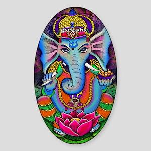 Ganesha Art by Julie Oakes Sticker (Oval)