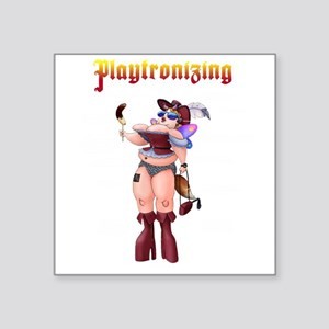 "Playtronizing Woman Square Sticker 3"" x 3"""