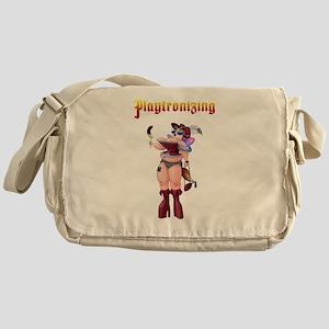 Playtronizing Woman Messenger Bag