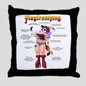 Playtronizing WomanB Throw Pillow