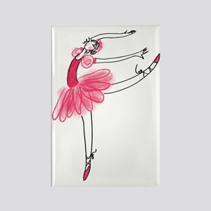 Pink Ballerina Rectangle Magnet