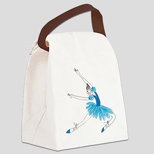 Blue Ballerina Canvas Lunch Bag