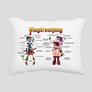 Playtronizing Duo Rectangular Canvas Pillow