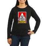Biohazard Shirt Women's Long Sleeve Dark T-Shirt