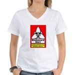 Biohazard Shirt Women's V-Neck T-Shirt