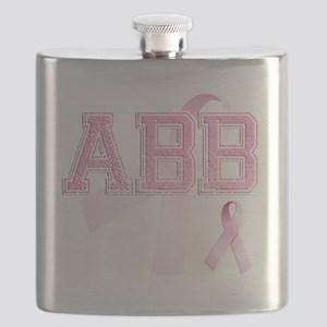 ABB initials, Pink Ribbon, Flask