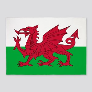 Welsh Flag Of Wales 5'X7'area Rug
