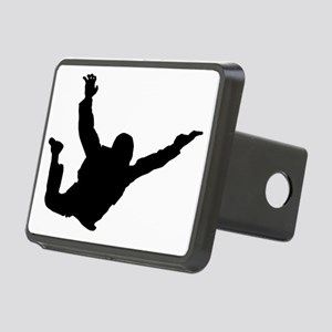 Silhouette 2 black Rectangular Hitch Cover
