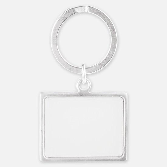 Silhouette 2 white Landscape Keychain