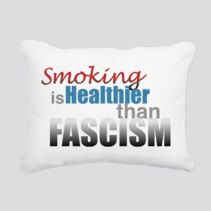 Smoking Fascism Rectangular Canvas Pillow