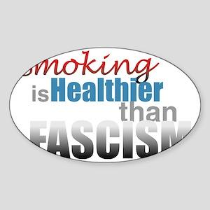 Smoking Fascism Sticker (Oval)