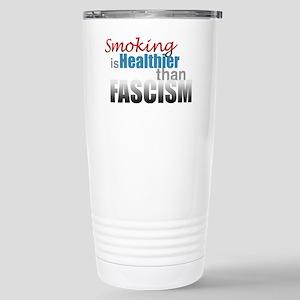 Smoking Fascism Stainless Steel Travel Mug