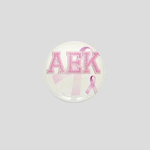 AEK initials, Pink Ribbon, Mini Button