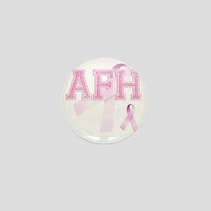 AFH initials, Pink Ribbon, Mini Button