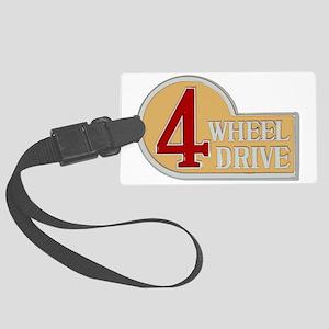 4WD logo Large Luggage Tag