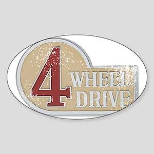 4wd emblem - faded Sticker (Oval)